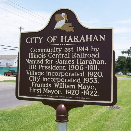 City of Harahan sign